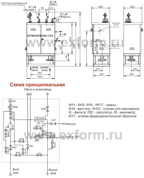 схема ГРПШ-3-1Н(В)