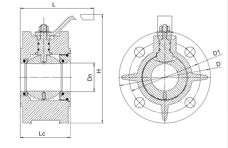 шаровой алюминиевый кран ДУ-50