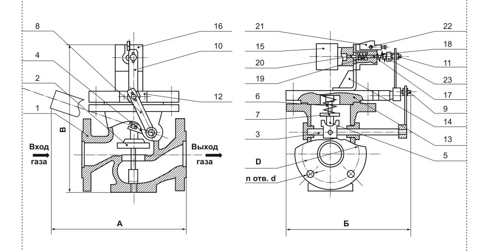 Схема устройства клапана КПЭГ-50