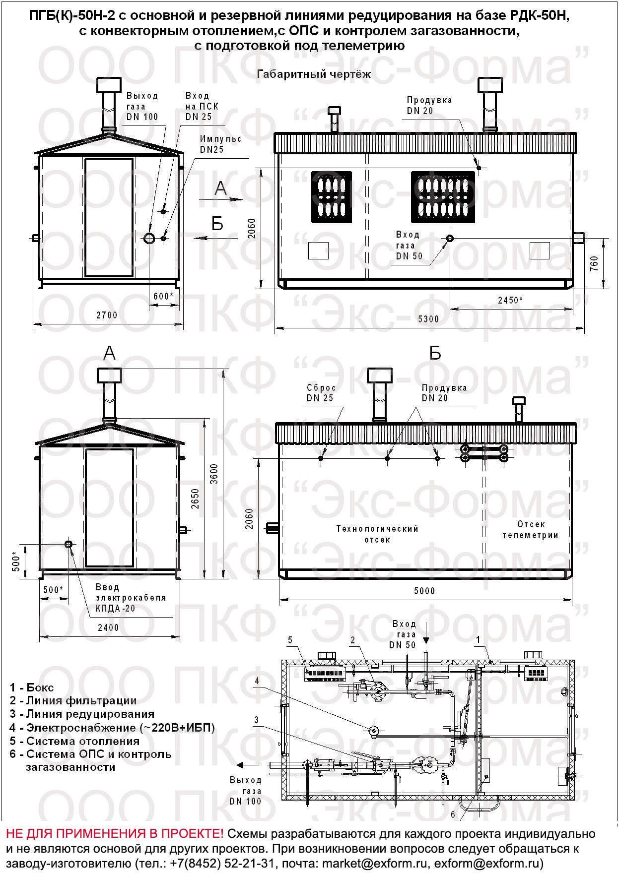 габаритная схема ПГБ(К)-50Н-2